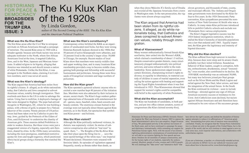 ku klux klan research questions