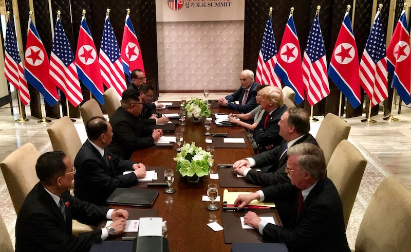 United_states_north_korea_bilateral_meeting_with_respective_delegations-