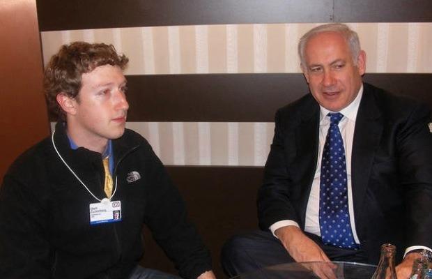 Facebook-israel-mark-zuckerberg-benjamin-netanyahu-