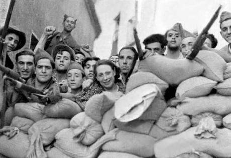 Spain-barricade-